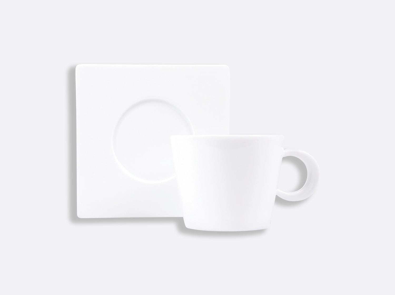 China Opus chocolate/tea cup and saucer 17 cl of the collection Opus blanc | Bernardaud