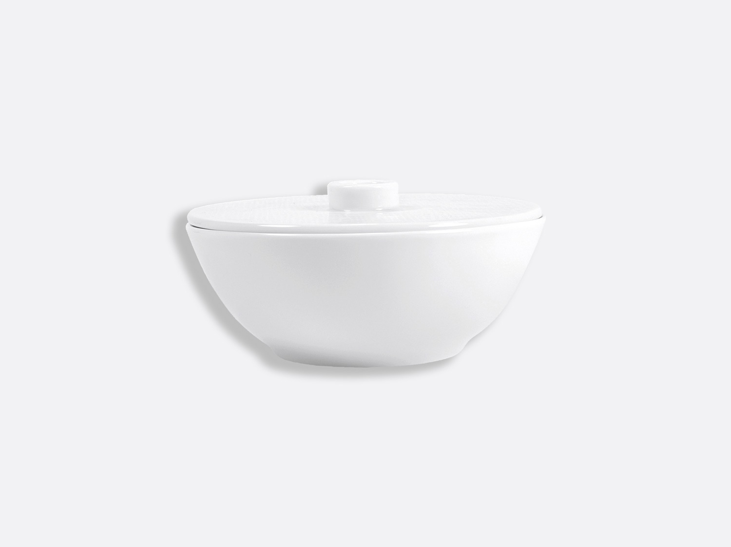 Bol couvert 40 cl en porcelaine de la collection ORGANZA BLANC Bernardaud