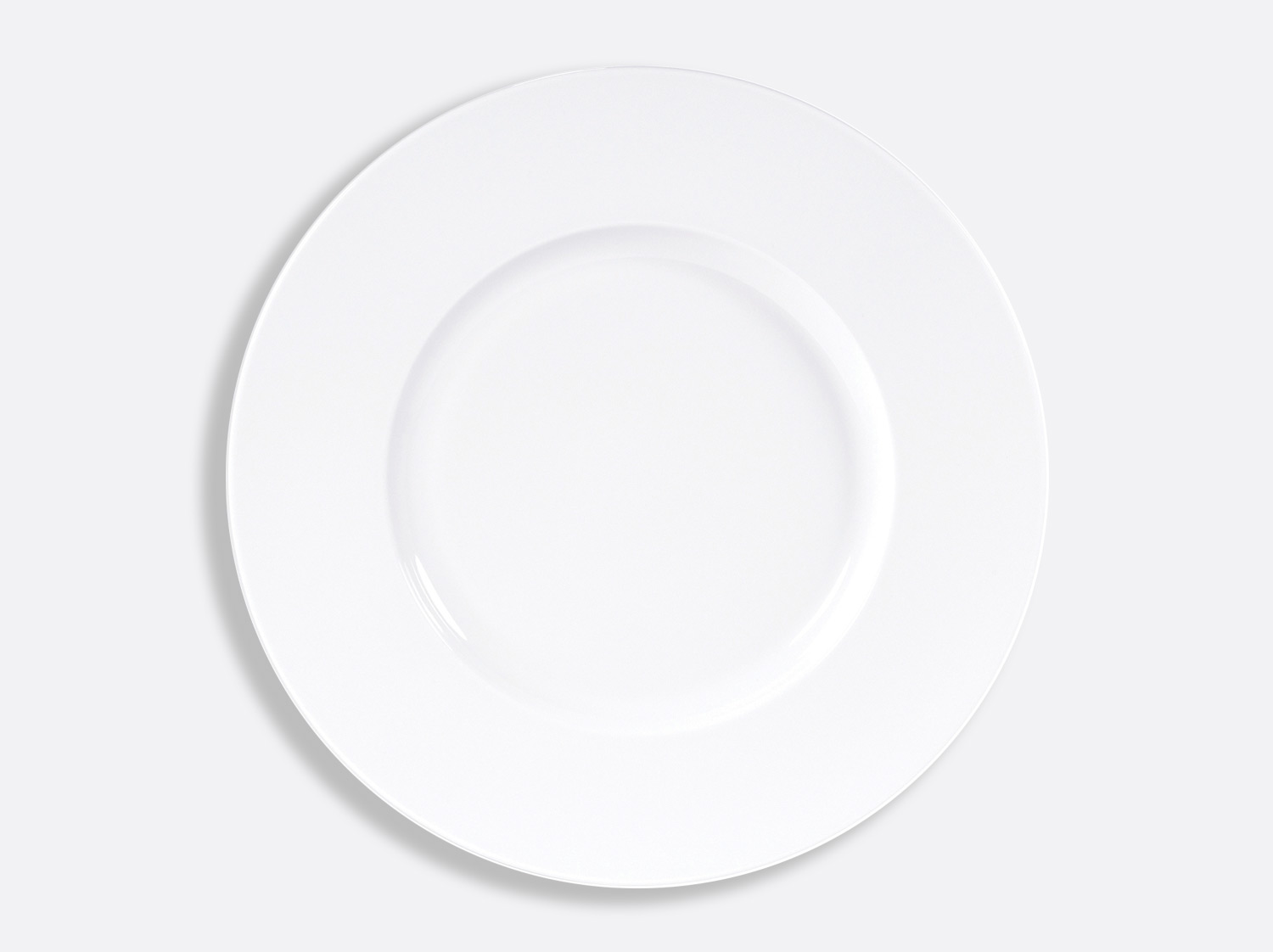 China Plate 32 cm large rim of the collection Blanc | Bernardaud