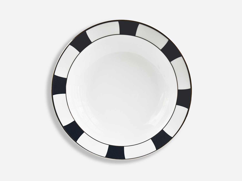Plat rond creux 29 cm en porcelaine de la collection Galerie Royale Bleu Nuit Bernardaud