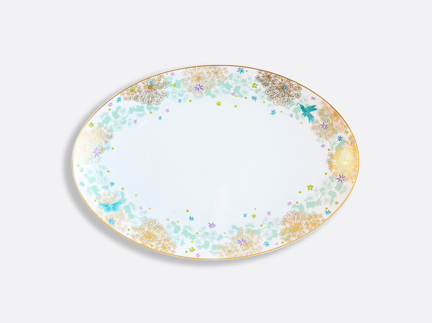 China Oval platter 38 cm of the collection FÉERIE - MICHAËL CAILLOUX | Bernardaud