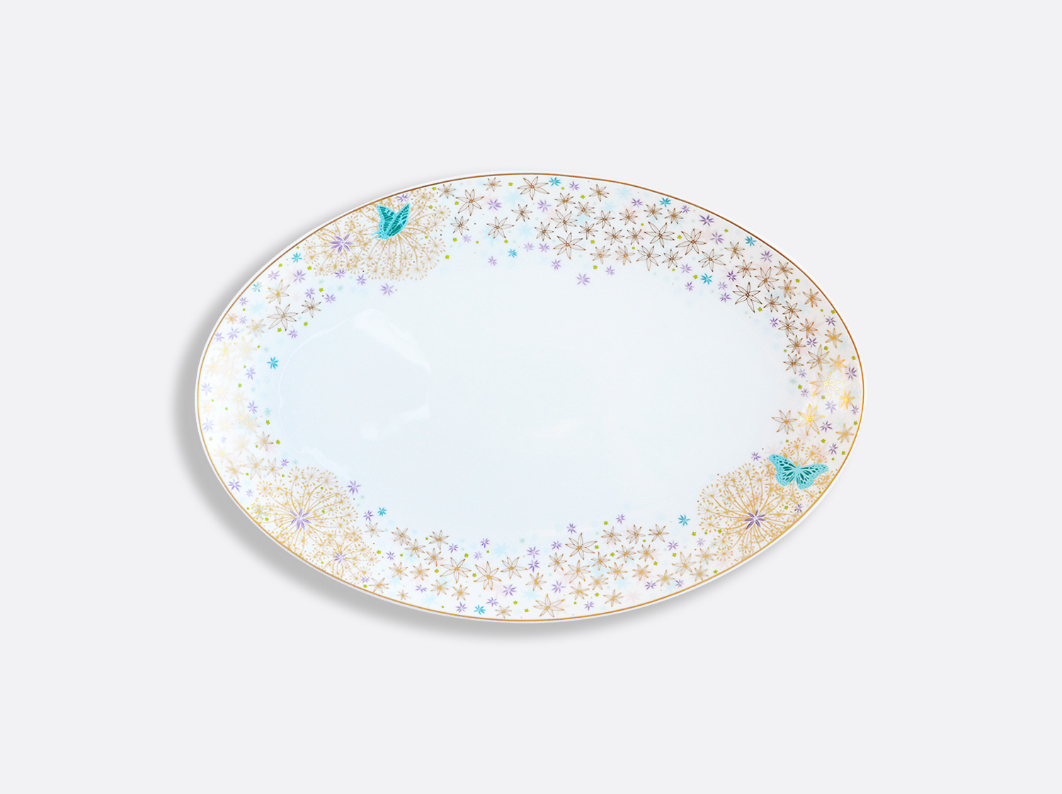 Plat ovale 33 cm en porcelaine de la collection FÉERIE - MICHAËL CAILLOUX Bernardaud