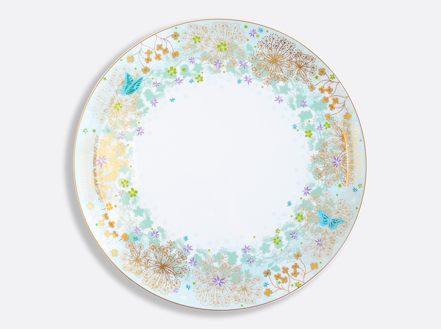 Plat à tarte 32 cm en porcelaine de la collection FÉERIE - MICHAËL CAILLOUX Bernardaud