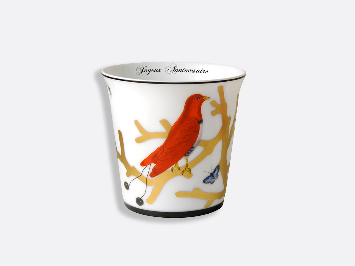 China Goblet of the collection Aux oiseaux - Personnalisation | Bernardaud