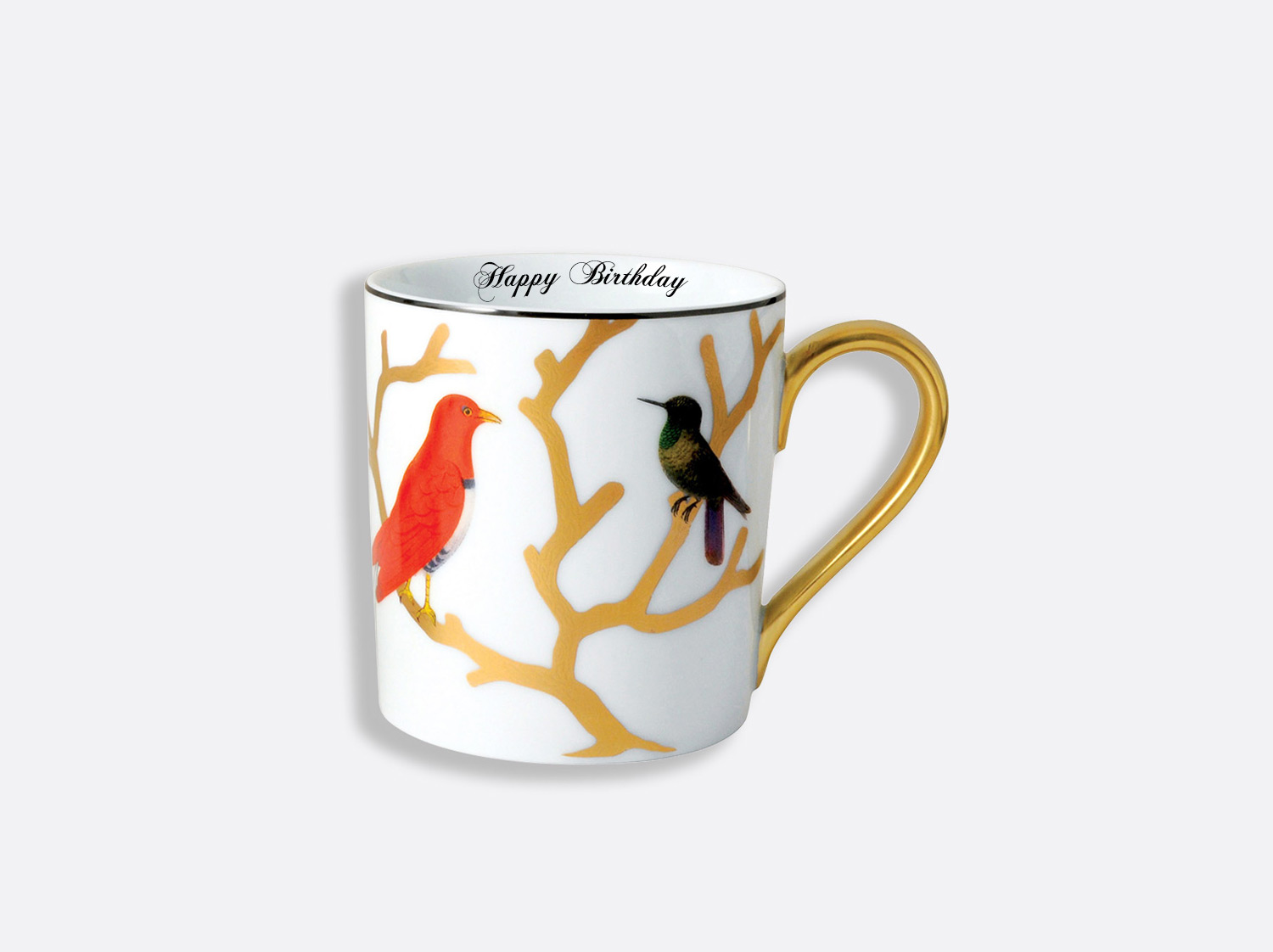 China Mug of the collection Aux oiseaux - Personnalisation | Bernardaud