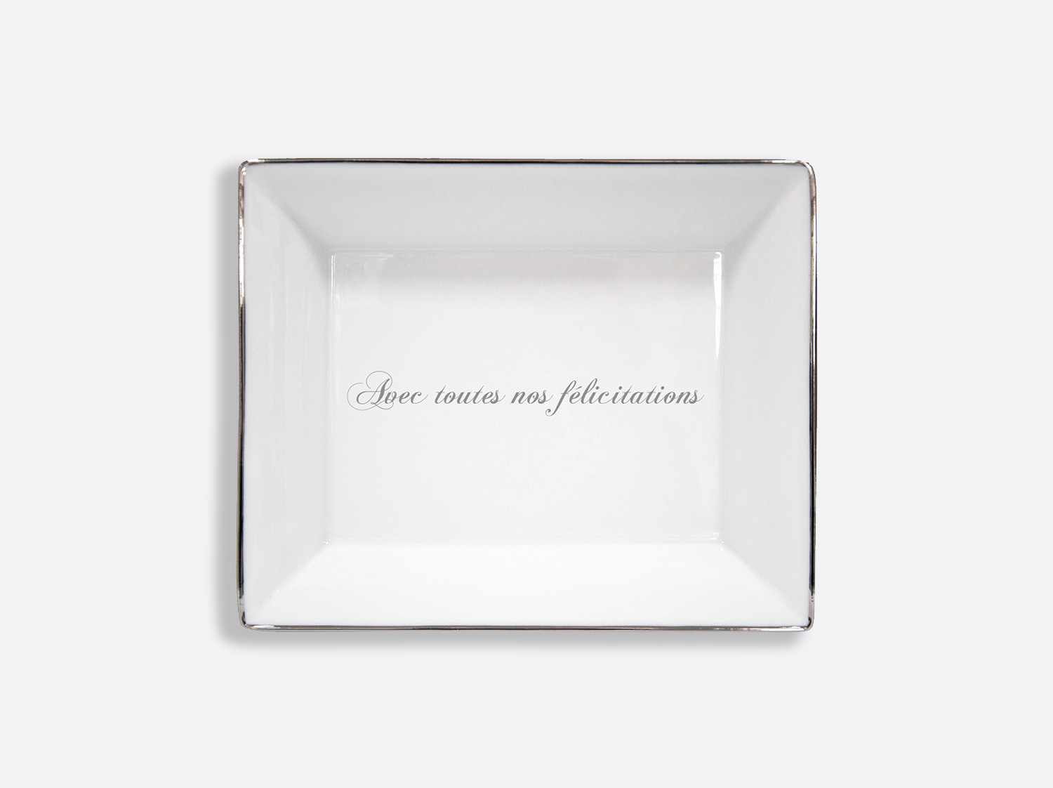 China Valet tray 20 x 16 cm of the collection Cristal - Personnalisation | Bernardaud
