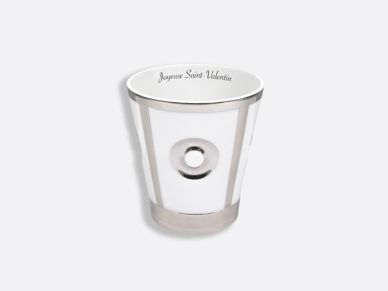 Gobelet en porcelaine de la collection Eolie Argent - Personnalisation Bernardaud