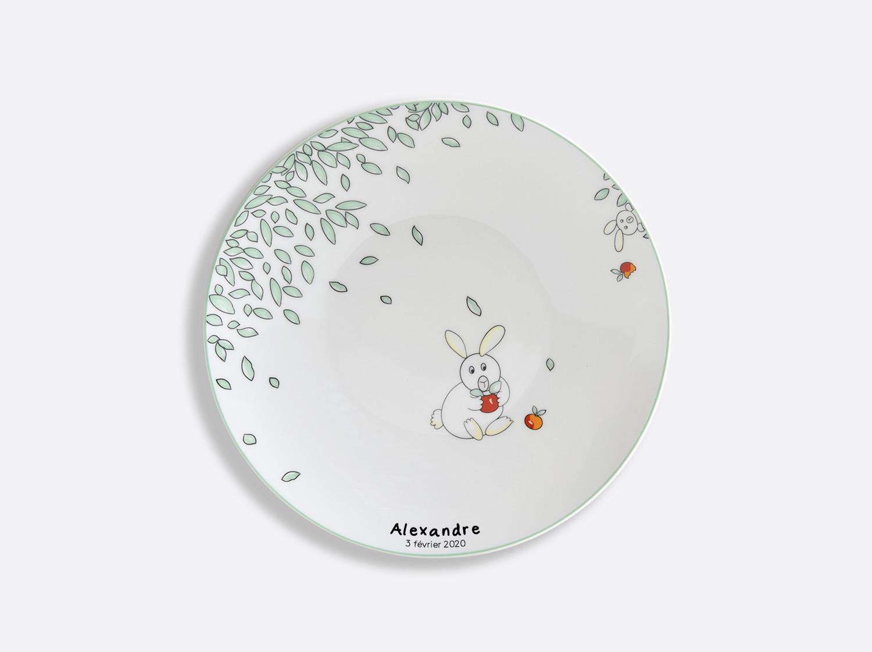 Assiette coupe 21 cm en porcelaine de la collection Petit Boulingrin - Personnalisation Bernardaud