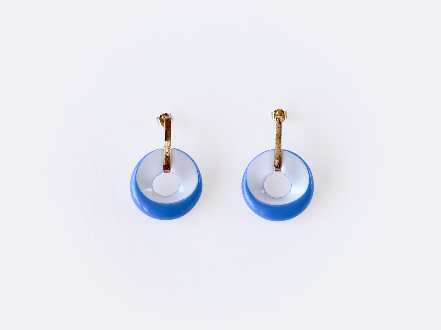 China Earrings of the collection ALBA BLEU | Bernardaud