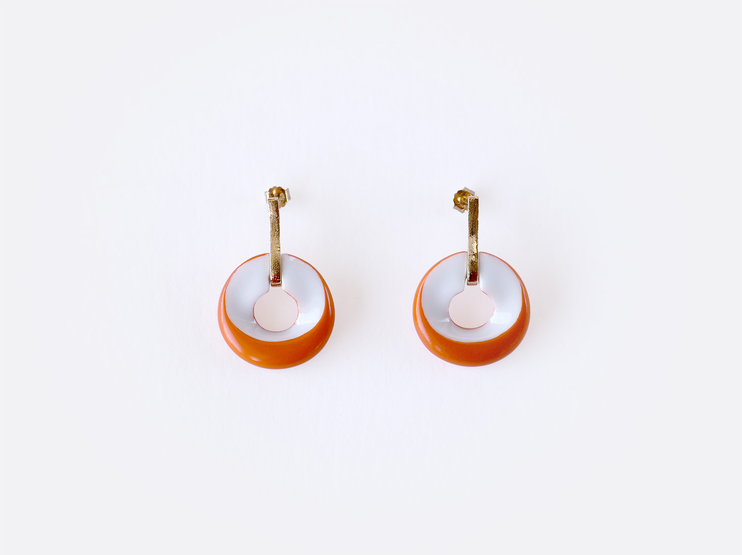 Boucles d'oreilles Alba orange en porcelaine de la collection ALBA ORANGE Bernardaud