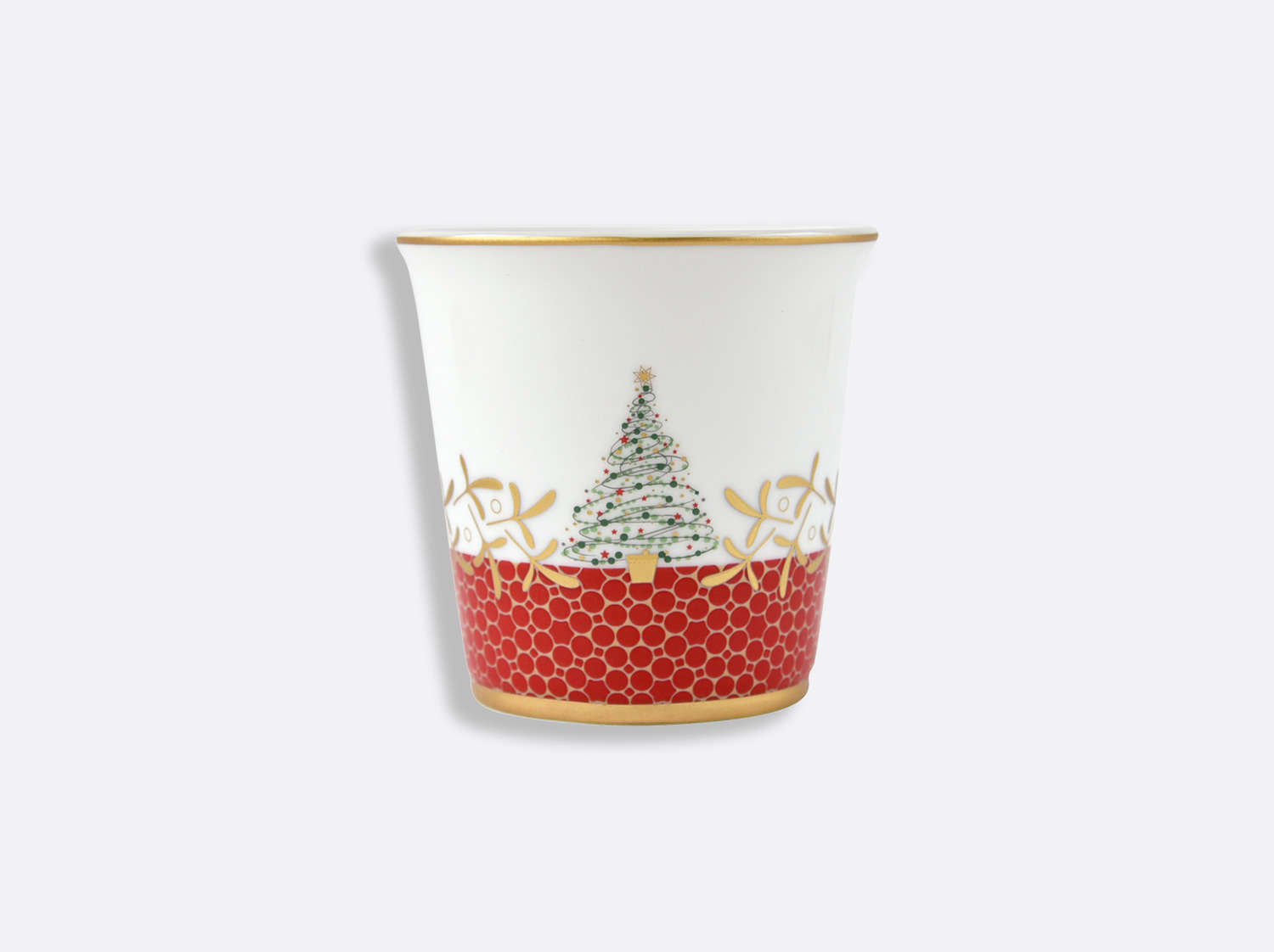 Pot 9 cm + bougie parfumée 200g en porcelaine de la collection Noël Bernardaud