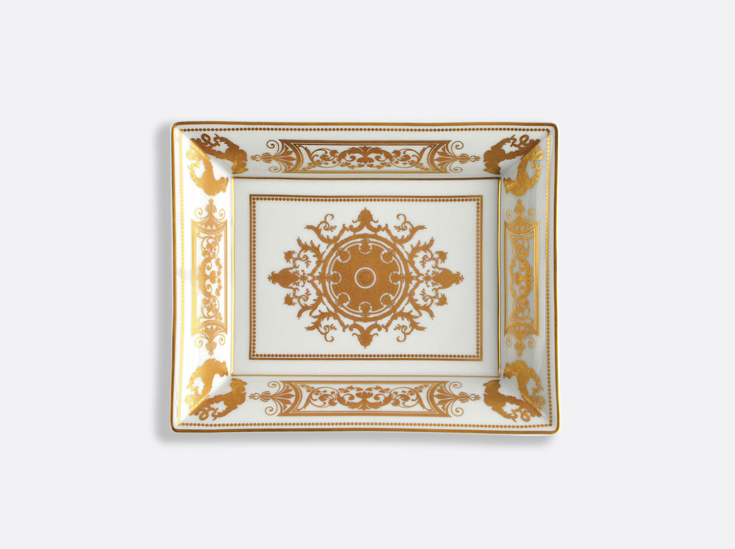 China Valet tray 20x16 cm of the collection Aux Rois Or | Bernardaud