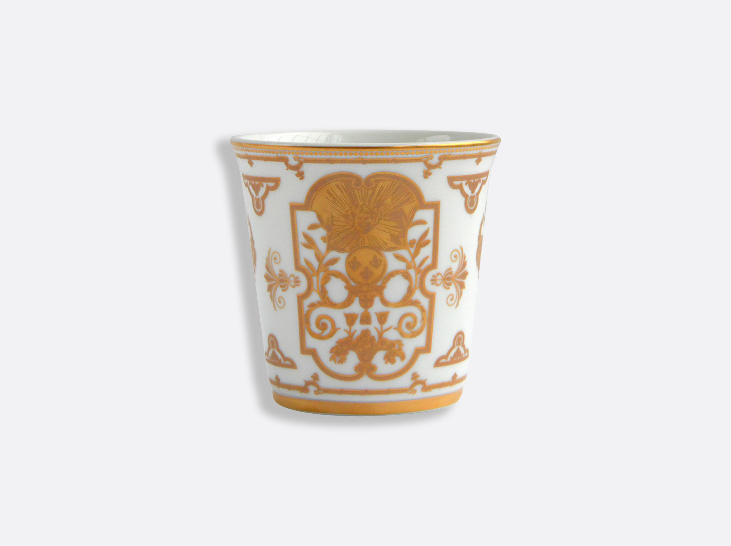 Pot 9 cm + bougie parfumée 200g en porcelaine de la collection Aux Rois Or Bernardaud