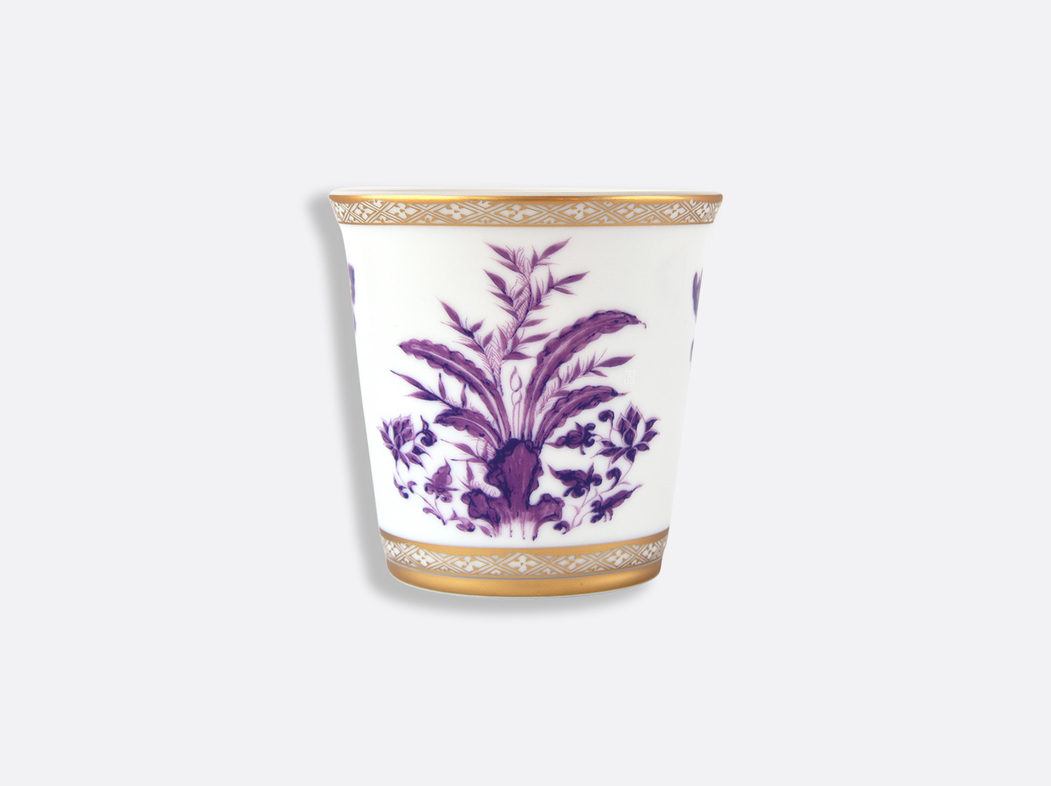 Pot 9 cm + bougie parfumée 200g en porcelaine de la collection PRUNUS Bernardaud