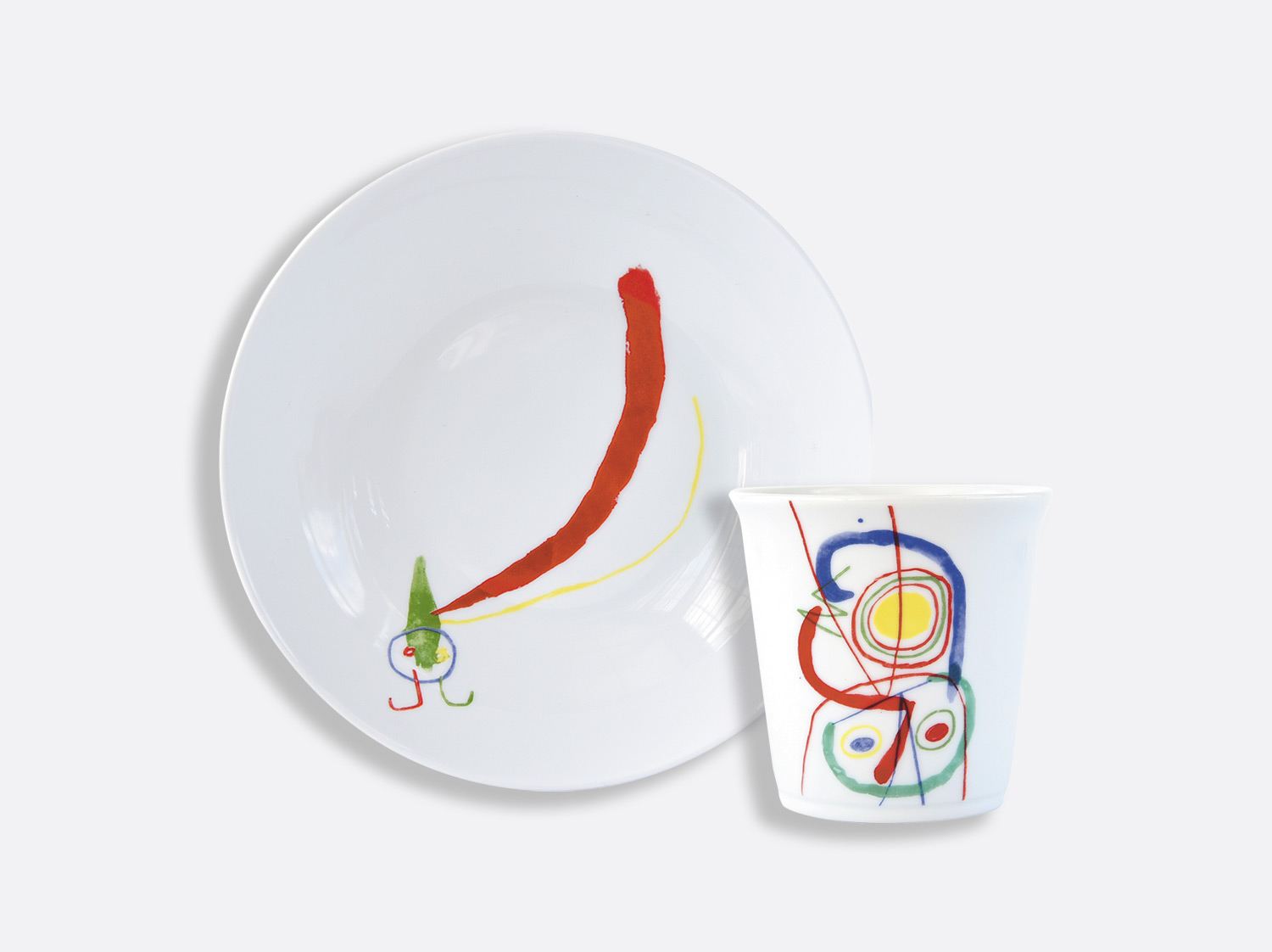 China Set of 1 coupe soup 19 cm + tumbler of the collection A TOUTE EPREUVE - JOAN MIRO CHILDREN SET | Bernardaud