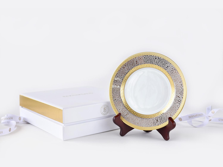 Ecrin 1 assiette 16 cm en porcelaine de la collection Follies Bernardaud