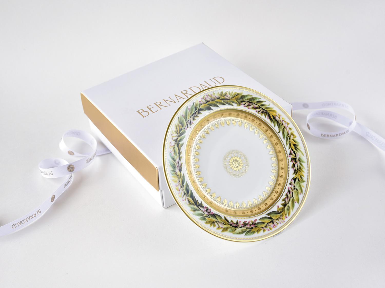 Coffret de 1 assiette 16 cm en porcelaine de la collection Botanique Bernardaud