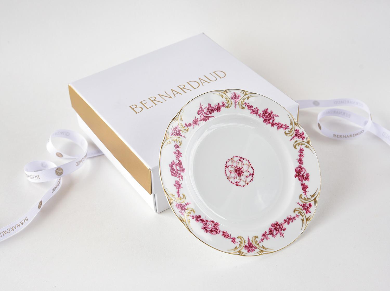 Coffret de 1 assiette 16 cm en porcelaine de la collection Louis xv Bernardaud