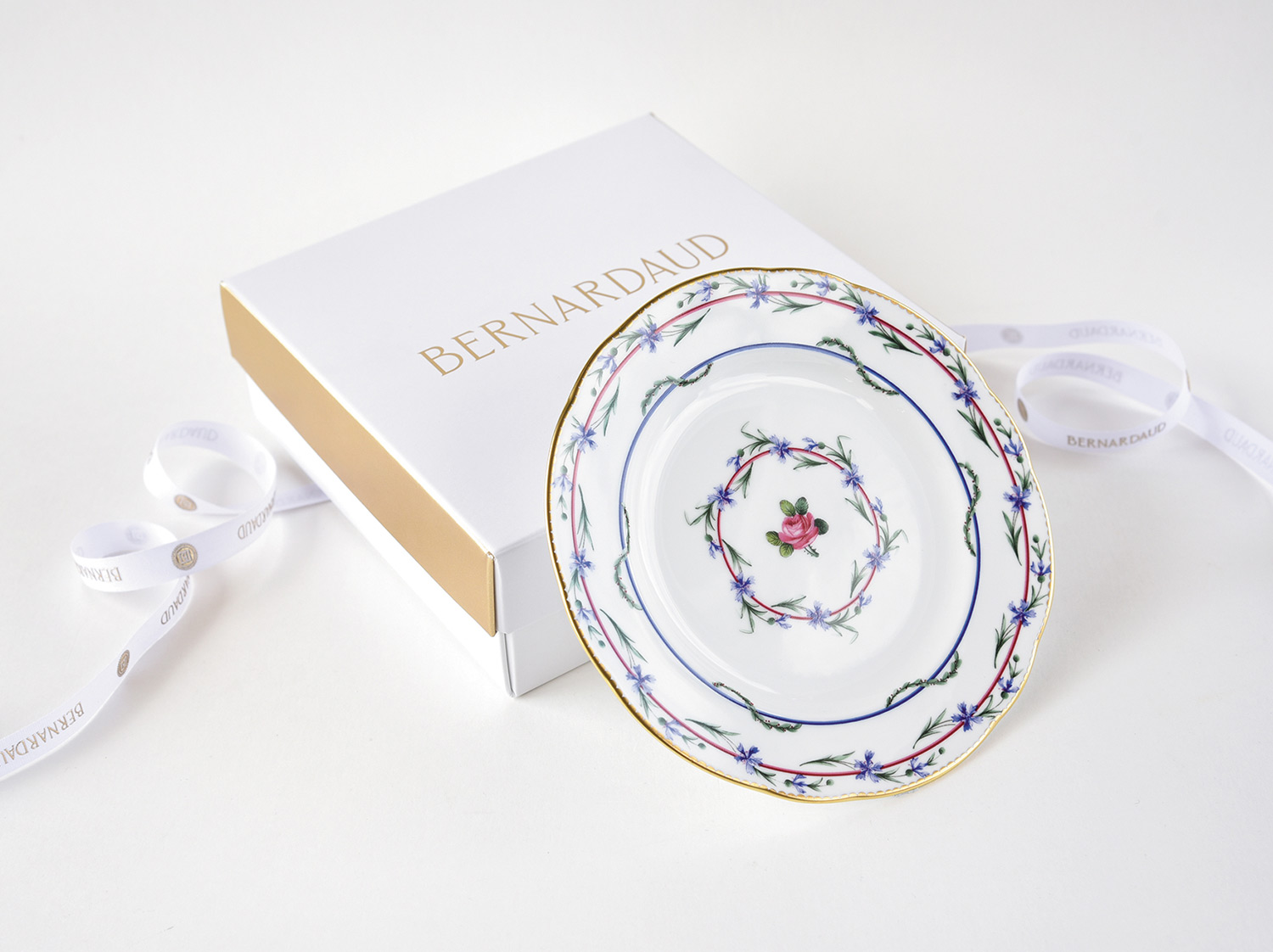 Coffret de 1 assiette 16 cm en porcelaine de la collection Gobelet du roy Bernardaud