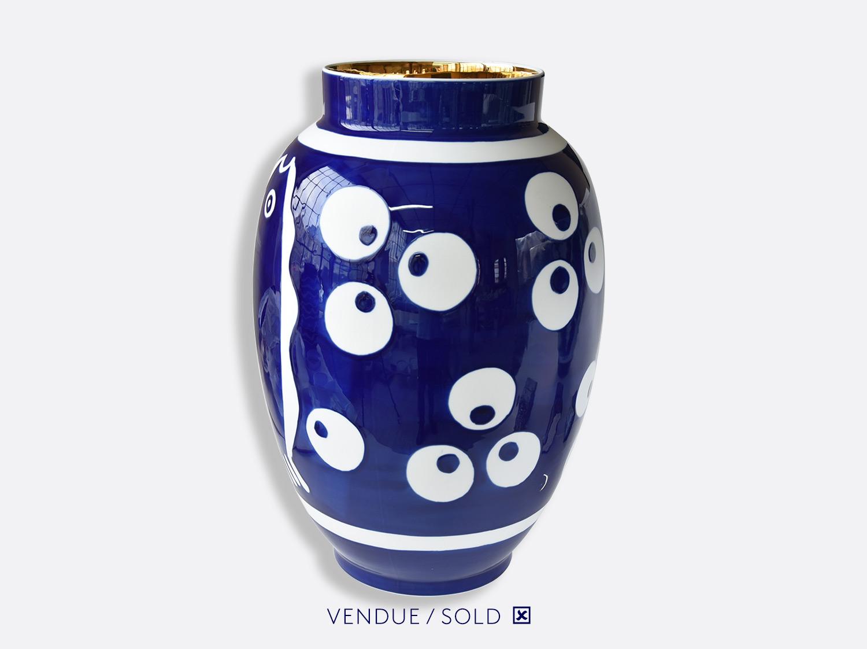 Potiche n°1 en porcelaine de la collection Atelier Buffile - Algues et Poissons Bernardaud