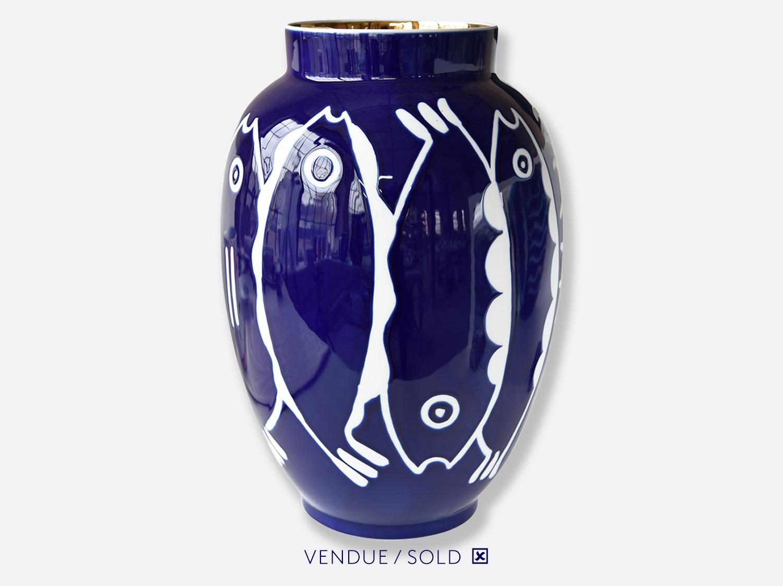 Potiche n°3 en porcelaine de la collection Atelier Buffile - Algues et Poissons Bernardaud