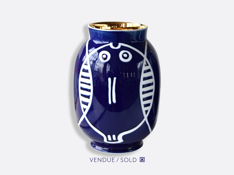 Vase toscan n°4 en porcelaine de la collection Atelier Buffile - Algues et Poissons Bernardaud