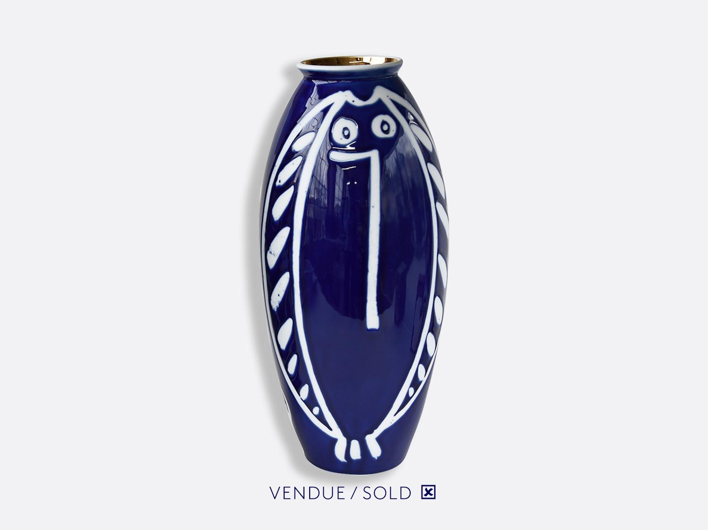 Vase trouville h.35 cm n°2 en porcelaine de la collection Atelier Buffile - Algues et Poissons Bernardaud
