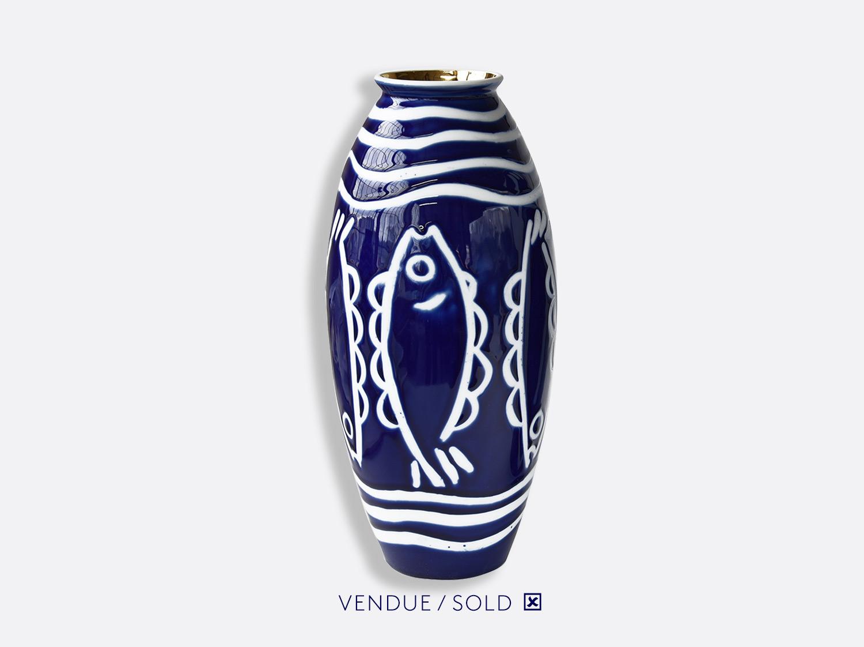 Vase trouville h.35 cm n°7 en porcelaine de la collection Atelier Buffile - Algues et Poissons Bernardaud