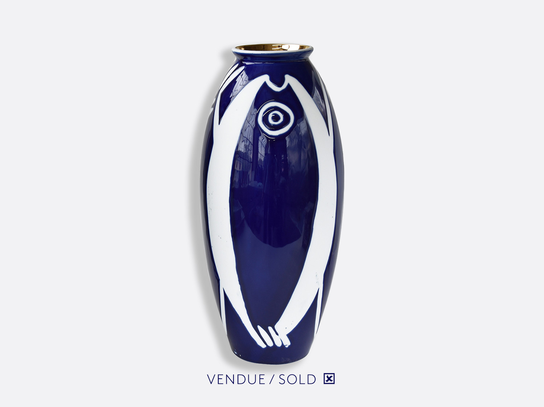 Vase trouville h.35 cm n°8 en porcelaine de la collection Atelier Buffile - Algues et Poissons Bernardaud