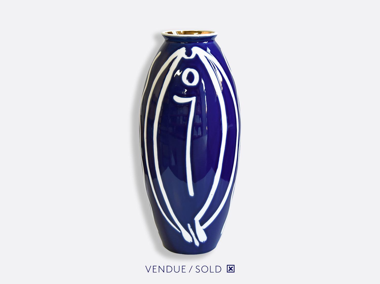 Vase trouville h.35 cm n°13 en porcelaine de la collection Atelier Buffile - Algues et Poissons Bernardaud