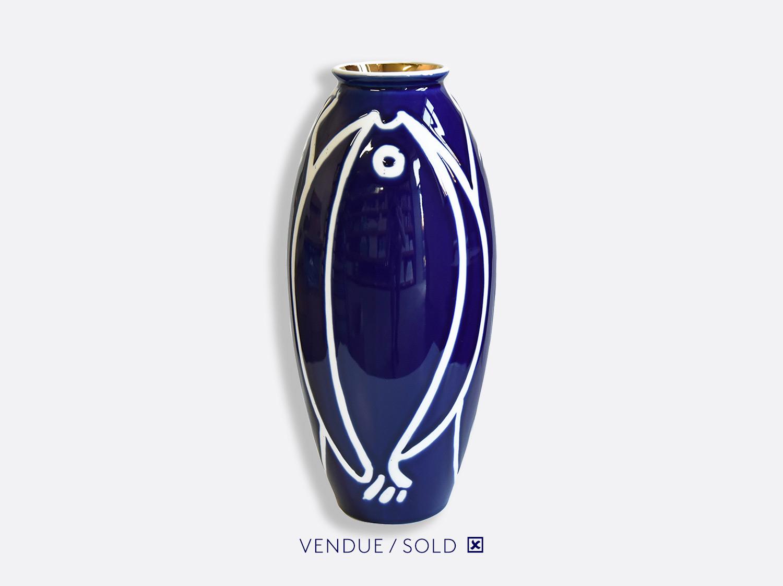 Vase trouville h.35 cm n°14 en porcelaine de la collection Atelier Buffile - Algues et Poissons Bernardaud