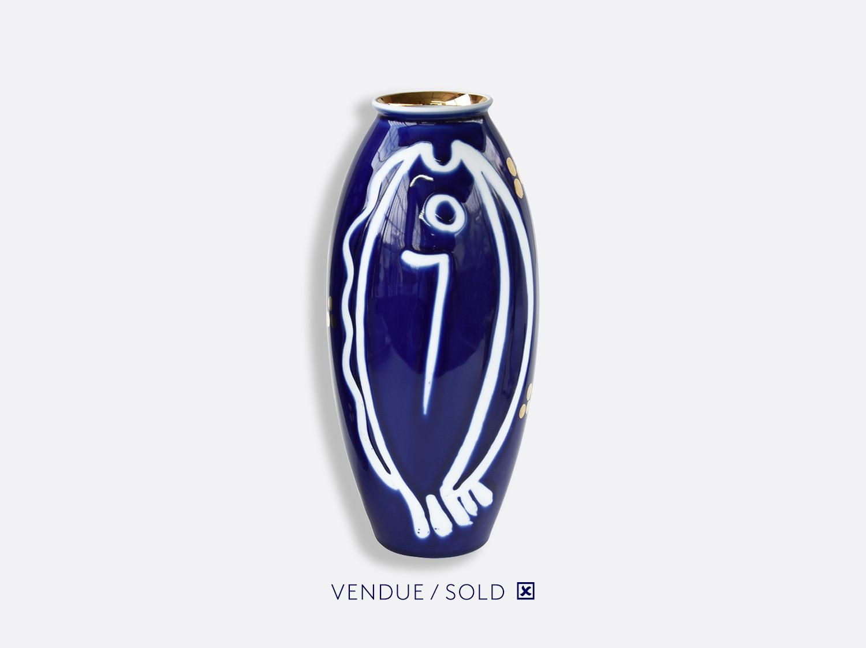 Vase trouville h.30 cm n°2 en porcelaine de la collection Atelier Buffile - Algues et Poissons Bernardaud