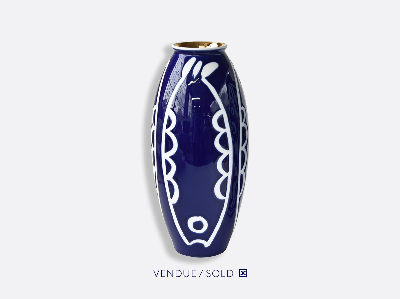 Vase trouville h.30 cm n°3 en porcelaine de la collection Atelier Buffile - Algues et Poissons Bernardaud