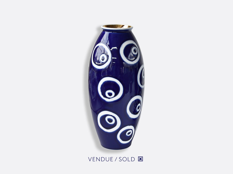 Vase trouville h.30 cm n°5 en porcelaine de la collection Atelier Buffile - Algues et Poissons Bernardaud