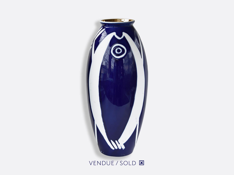 Vase trouville h.30 cm n°8 en porcelaine de la collection Atelier Buffile - Algues et Poissons Bernardaud