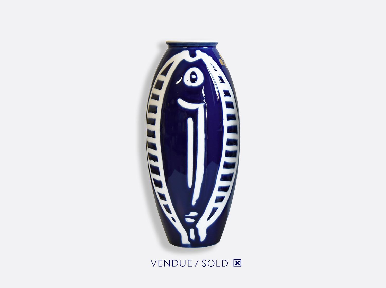 Vase trouville h.30 cm n°9 en porcelaine de la collection Atelier Buffile - Algues et Poissons Bernardaud