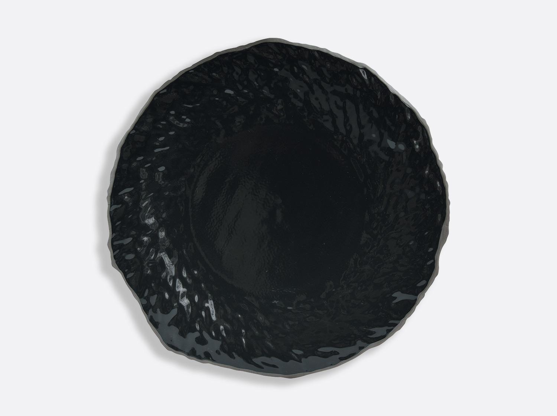 Assiette Noir / Noir 29 cm en porcelaine de la collection ECORCE NOIR Bernardaud