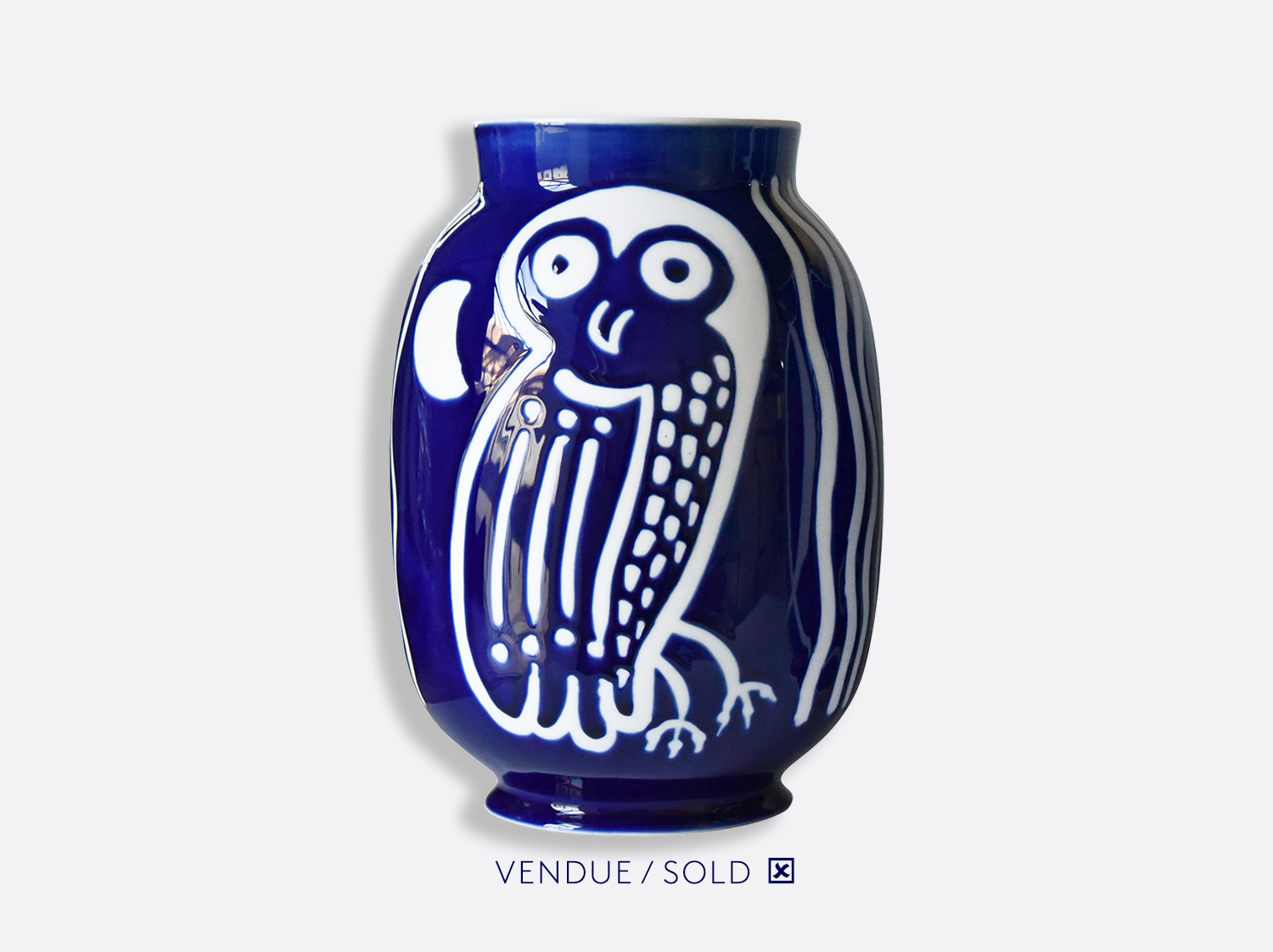 Vase toscan n°8 en porcelaine de la collection Atelier Buffile - Algues et Poissons Bernardaud