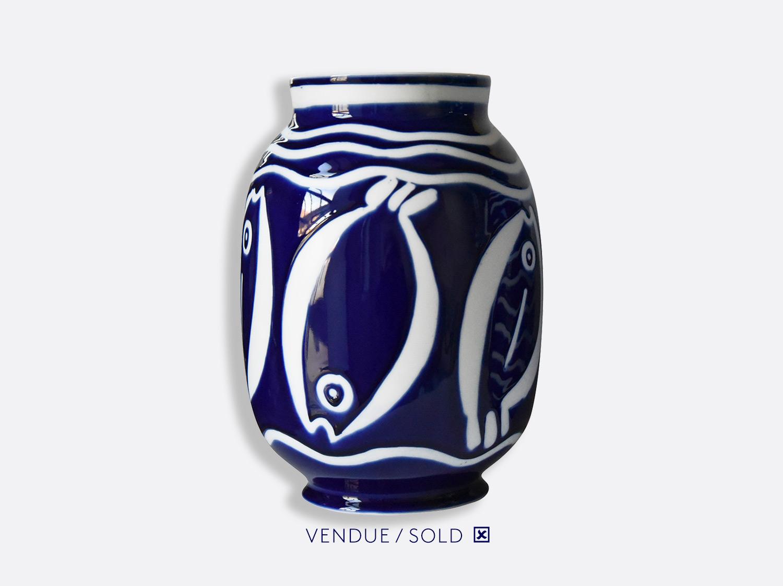 Vase toscan n°10 en porcelaine de la collection Atelier Buffile - Algues et Poissons Bernardaud