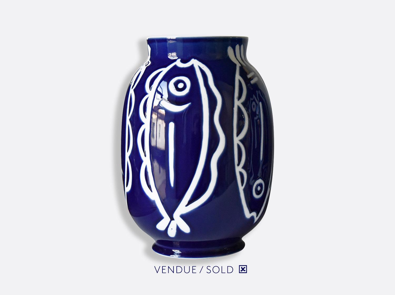 Vase toscan n°12 en porcelaine de la collection Atelier Buffile - Algues et Poissons Bernardaud