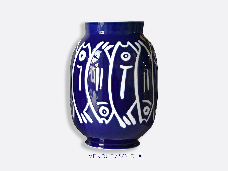 Vase toscan n°13 en porcelaine de la collection Atelier Buffile - Algues et Poissons Bernardaud