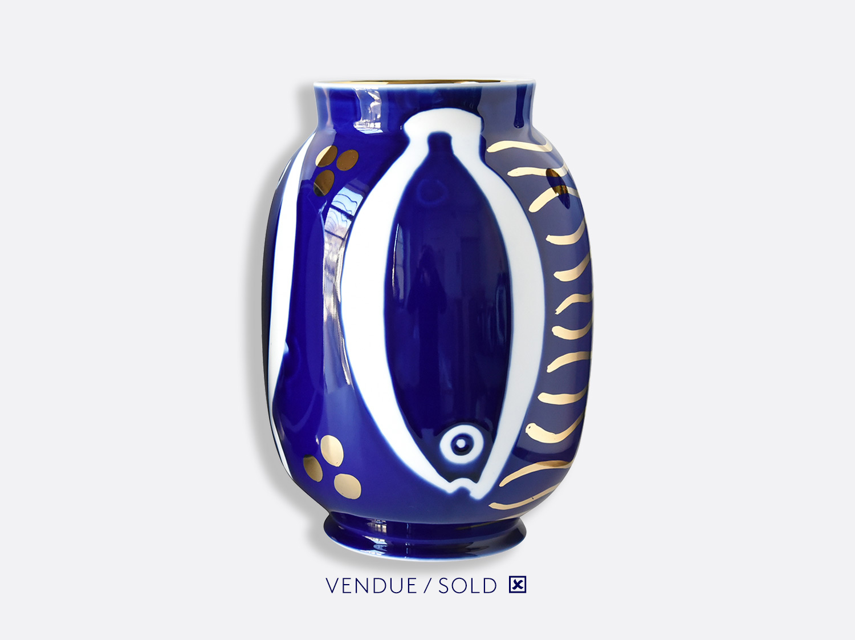 Vase toscan n°18 en porcelaine de la collection Atelier Buffile - Algues et Poissons Bernardaud