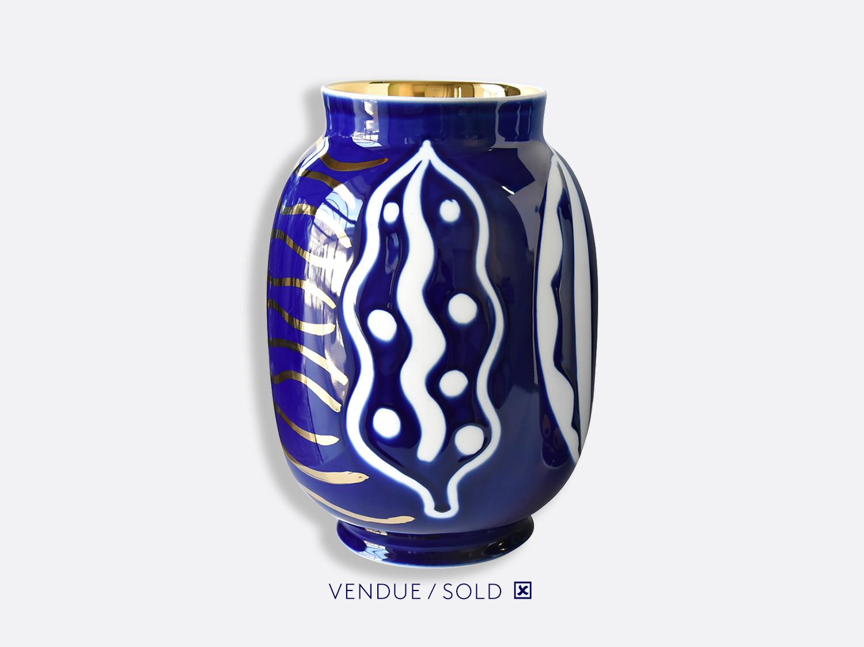 Vase toscan n°19 en porcelaine de la collection Atelier Buffile - Algues et Poissons Bernardaud