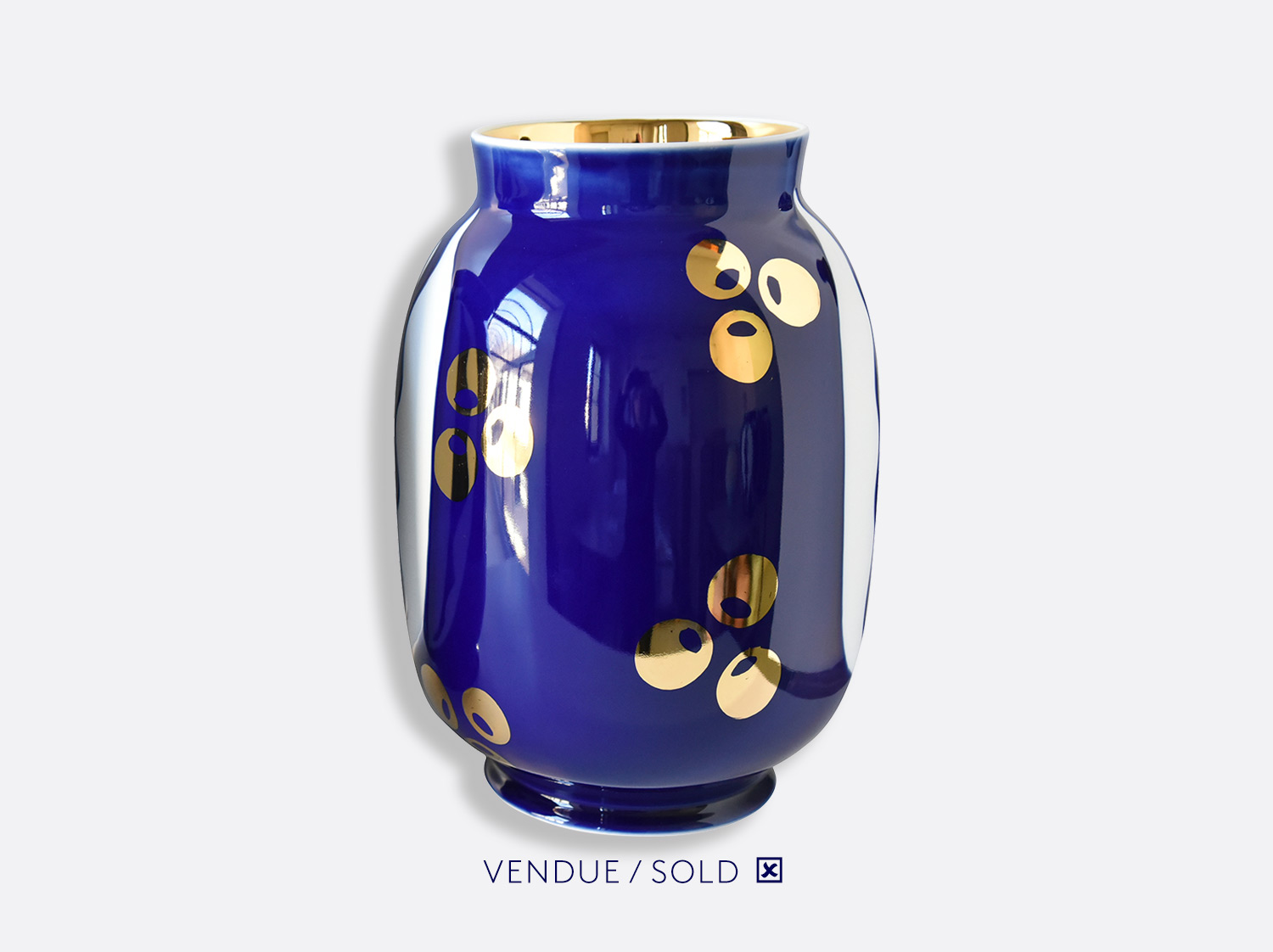 Vase toscan n°20 en porcelaine de la collection Atelier Buffile - Algues et Poissons Bernardaud