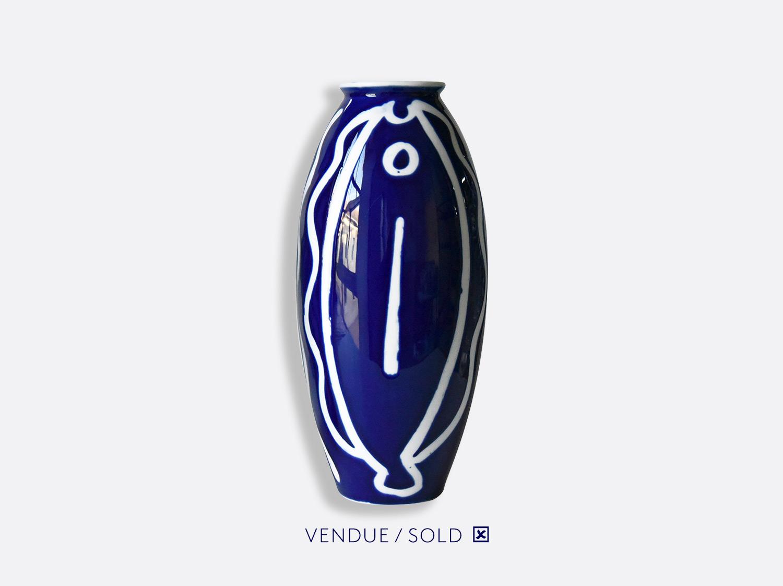 Vase trouville h.30 cm n°14 en porcelaine de la collection Atelier Buffile - Algues et Poissons Bernardaud