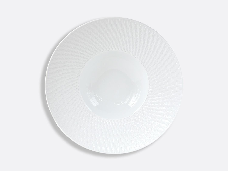 Assiette creuse à aile large 27 cm en porcelaine de la collection Twist Bernardaud