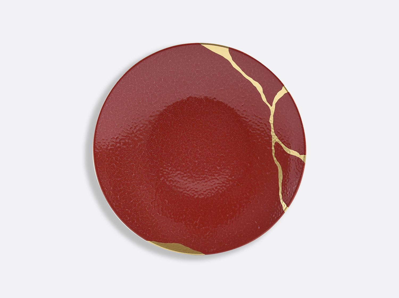 China Salad plate 21 Rouge Empereur of the collection KINTSUGI Rouge Empereur | Bernardaud