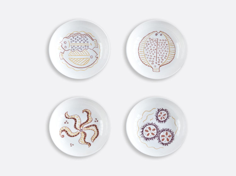 Coffret de 4 assiettes creuses 19 cm assorties en porcelaine de la collection Marinette Bernardaud