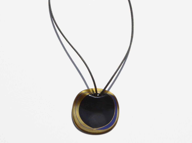 Pendentif Long Eclipse en porcelaine de la collection ECLIPSE Bernardaud