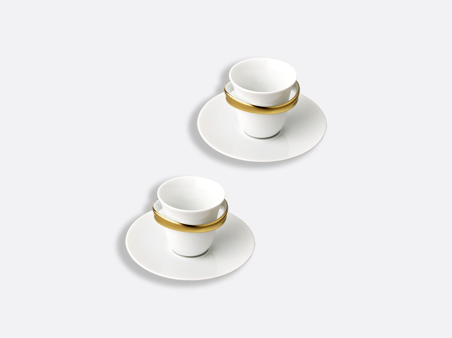 China Espresso cup and saucer - Set of 2 of the collection Anno or | Bernardaud